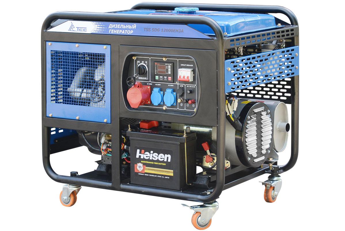 Дизельный генератор (электростанция) TSS SDG 12000EH3A